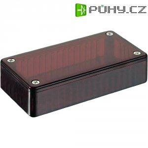 Transparentní pouzdro z polykarbonátu Hammond Electronics 1591 ETRD, 191 x 110 x 61 , červená