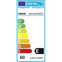 Žárovka Osram, 4050300309651, 60 W, E27, stmívatelná, stříbrná