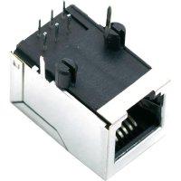 Konektor do DPS BEL Stewart Conn. SS64600-025F, zásuvka vestavná horizontální, Snap-In