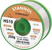 Cínová pájka PBF, Sn99Cu1, Ø 1 mm, 250 g, Stannol HS10 2510