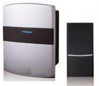 HBF 500023 Mobilní bezdrátový zvonek ve stříbrném provedení CD - 100