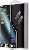 HDMI Belkin kabel ProHD1000 s ethernetem, pozlacené kontakty, 4 m, černý