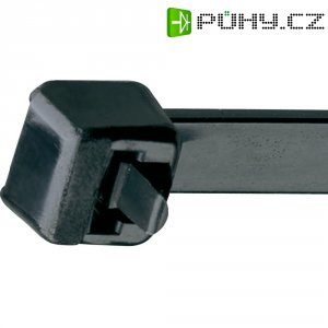 Rozepínací stahovací pásek UV odolný Panduit PRT3H-L0, 290 x 7,6 mm, černá