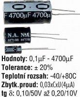 0,1u/50V N.A. elyt radiální 5x11x2 DOPRODEJ