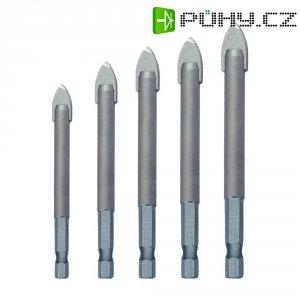 """Sada vrtáků do skla a dlažby Heller QuickBit® CeramicMaster, 1/4\"""" (6.3 mm), 5 dílů"""
