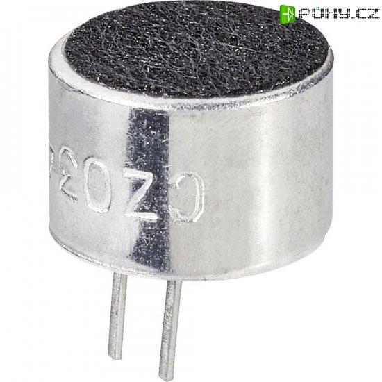 Elektretový mikrofon EMY-9765P, 3 - 10 V/DC, -46 dB, 30 - 16000 Hz