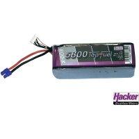 Akupack LiPol Hacker EC5, 25800231, 7,4 V, 5800 mAh, 20 C
