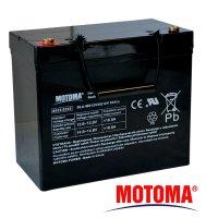 Baterie olověná 12V/55Ah MOTOMA bezúdržbový akumulátor