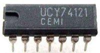 74121 - monostabilní klopný obvod, DIL14 /UCY74121,D121D/