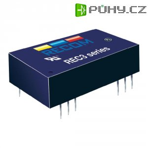 DC/DC měnič Recom REC3-0505SRW/H4/C, vstup 4.5-9 V/DC, výstup 5 V/DC, 600 mA