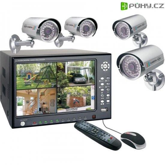 Kamerový systém Elro, DVR74S, 4kanálový, 420 TVL - Kliknutím na obrázek zavřete
