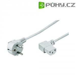 Síťový kabel s IEC zásuvkou Goobay 93120, 5 m, bílá