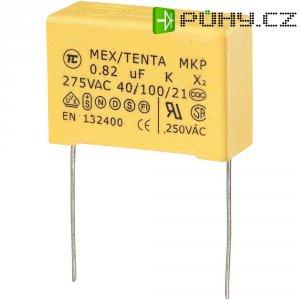 Foliový kondenzátor MKP, 0,82 µF, X2 275 V/AC, 10 %, 32 x 13 x 23 mm