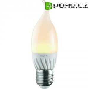 LED žárovka Sygonix, E27, 3 W, 230 V, 125 mm, teplá bílá