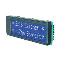 LCD displej DIP162-DN3LW, EADIP162-DN3LW, 10,8 mm, bílá/modrá