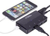 USB 3.0 hub Renkforce RF-3806031 4 + 1 port, černá