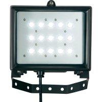 LED reflektor 15x 1 W, studená bílá, IP65, černá