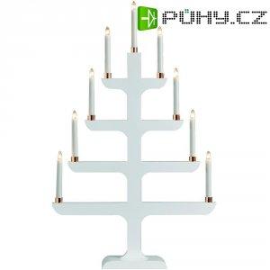 Svícen ve tvaru vánočního stromečku Konstsmide, bílá