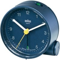 Analogový budík Braun 66005, Ø 68 x 35 mm, modrá
