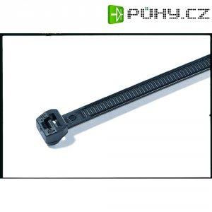 Stahovací pásek HellermannTyton T18ROS-HS-BK-C1, 100 x 2,5 mm, 100 ks, vnější ozub., černá