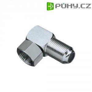 Adaptér BKL Electronic, 0403395, F konektor ⇔ F zásuvka, úhlový