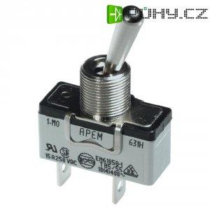 Páčkový spínač pro vysoké proudové zatížení APEM 649NH/2 / 6493019, 250 V/AC, 10 A, 2x zap/vyp/zap, 1 ks