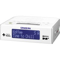 DAB+ rádiobudík Sangean DCR-89+, FM, bílá