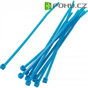 Stahovací pásky KSS PBR-100-4BE, 100 x 2,2 mm, 100 ks, modrá