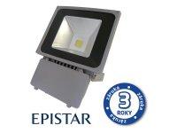 LED reflektor venkovní 70W/6000lm EPISTAR, MCOB, AC 230V, STUDENÁ, šedý