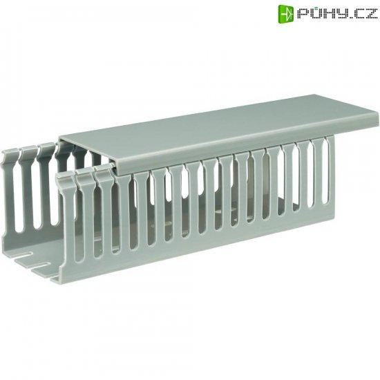 Elektroinstalační lišta, 65x65 mm, 2 m, šedá - Kliknutím na obrázek zavřete