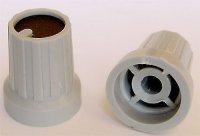 Přístrojový knoflík KP15, 15x18mm, hřídel 4mm, černý