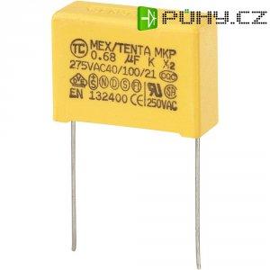 Foliový kondenzátor MKP, 0,68 µF, X2 275 V/AC, 10 %, 26,5 x 10 x 19 mm