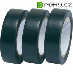 Izolační páska, 15 mm x 10 m, černá, 3 ks