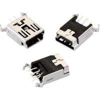 Mini USB Typ B 5pól. Würth Elektronik 651005136421, zásuvka vestavná vertikální, černá