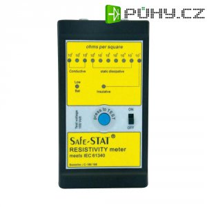 ESD tester odporu SAFE-STAT BJZ C-186 108, typy měření: povrchový, svodový a průchodový odpor