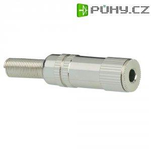 Jack konektor 3,5 mm mono BKL Electronic 1108009, zásuvka rovná, 2pól., stříbrná