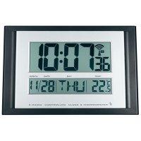 Digitální nástěnné hodiny Slim, černá