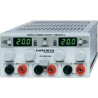Laboratorní síťový zdroj Hameg HM 8040-3, 0 - 20 V/DC, 0 - 0,5 A