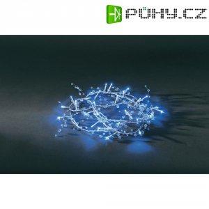 Vánoční mini řetěz Konstsmide, 32 modrých LED s transparentními perlami, 7 m