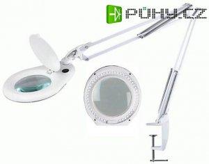 Stolní lupa LED ZD-129A ,5 dioptrií, uchycení svorkou