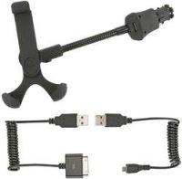 Držák pro smartphone Ansmann, s USB nabíječkou