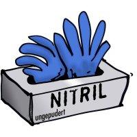 Jednorázové nitrilové rukavice Leipold + Döhle 14694, velikost L, modrá, 100 ks
