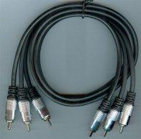 3xCinch-3xCinch Hi-Fi 1,5m, kabel 5mm, DOPRODEJ