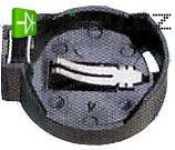 Držák baterie 1xCR2025/2032 do DPS naležato