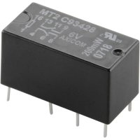 Signálové relé MT2, 2 A, 2 přepínací kontakt (zdvojené kontakty) 5 V/DC TE Connectivity C93416