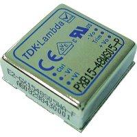 DC/DC měnič TDK-Lambda PXB15-48WD15, vstup 18-75 V/DC, výstup + 15 V, 0.5 A