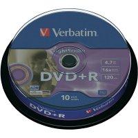 Verbatim DVD+R 4,7GB 16X 10 ks SP LIGHT