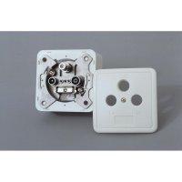 Anténní zásuvka s krytem Axing, SSD-2-00, rádio/TV/SAT
