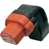 Úhlová síťová IEC zásuvka C21 Kalthoff 444P/Si/Wi, 250 V, 16 A, červená, 444004