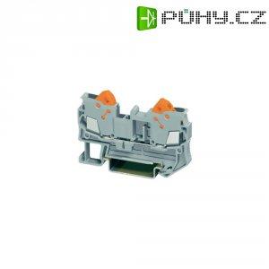 Průchozí svorka Phoenix Contact QTC 2,5 (3206416), rychlé připojení, 6,2 mm, šedá